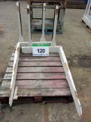 A Pair of CASCADE Fork Positioner Forks, Size 120mm x 50mm, Fork Length 1200mm with Wear Tiles (