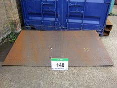 A 2150mm x 260mm Mild Steel Checker Plate Container Ramp (Use Reserved until 25/09/20)