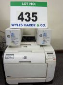 A HEWLETT PACKARD LaserJet Pro 400 Colour Laser Printer and A Yellow and A Cyan Toner