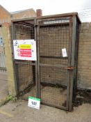 A 1420mm x 1000mm x 1920mm Lockable Gas 2-Sided Mesh Cage with Full Height Door (Excludes Padlock)