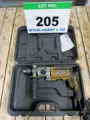 A JCB Model H900 240V Pistol Drill in Blow Moulded Case