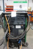 A MIGTRONIC Model Dyna Mig 335 Mig Welder (KDO335) complete with QUALITRONICS Voltage and Amp and