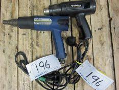 A STEINEL Model HL16055 Heat Gun and A WICKES Hot Air Gun
