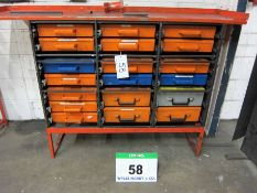 An Approx. 1700mm x 460mm x 1100mm Hydraulics Van Storage System comprising Nineteen ROLA CASE