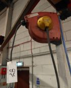 A DEMAC Retractable Air Line Hose Reel and Bracket (Method Statement Required before Removal -