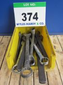 Fourteen Metric Combination, Ring and Open Spanners, 36mm to 63mm by GEODORE and TONA (As Lotted)
