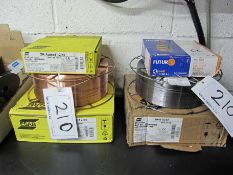 Six Reels of Welding White including 1mm dia. ESAB OK Autorod 12.51, .8mm dia. ESAB OK Autorod 12.