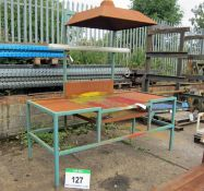 A 2200mm x 950mm x 900mm (Plus Canopy) Spray Painting Bench with Extraction Ready Hood, with