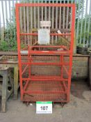 A 2-Man Riser Cage, Unladen Weight 126Kg, Max. Load 300Kg at 500mm Centres (Note: Requires LOLER