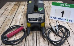 An ESAB Caddy Model A31 240V Portable Arc Welder complete with Torch and Earth Lead (Calibrated to