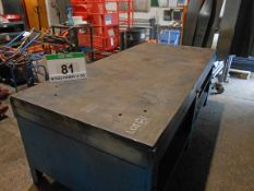 A 2290mm x 1080mm Heavy Duty Marking Out/Welding Bench with Steel Slab Top (Rated SWL 1000Kgs)