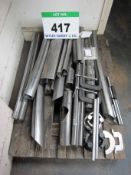 A LINDE Cab D Rail H40 Series Rail Cutting and Welding Jigs and Fixtures including G Clamps (As