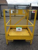 A 2-Man Low Height Work Platform with Fork Pockets, 1020mm x 1020mm