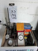 Two ECLIPSE and One MITUTOYO Magnetic Clock Stands and a Number of Dial Indicators by MITUTOYO,