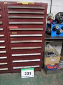 A VIDMAR 760mm x 700mm x 1580mm Chest of Eleven Graduated Drawers for Tools/Part Storage