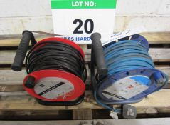 Two 240V (One 25M and One 20M) Reeled Extension Leads
