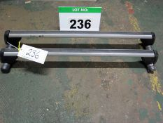 A Pair of VOLKSWAGEN Roof Bars to fit Caddy from 2004 - Caddy Max from 2007, 100Kg Max. capacity
