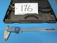 A MOORE AND WRIGHT 200mm Digital Vernier Caliper, Calibrated to 25/08/2020 with Certificate (Cased)