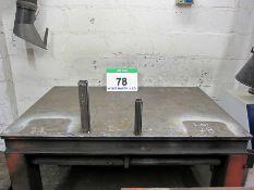 A 1500mm x 1010mm Heavy Steel Welding Bench