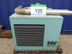 A POWERMATIC NV/30/F/1 Gas Fired Space Heater and A Quantity of Ducting (For Spares or Repair)