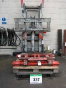 An MHS Test Rig for Forklift Attachment Testing, comprising Simplex Mast rated at 5000Kg at 500mm
