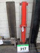 A Pair of MHS 1200mm x 200mm Slip Arm Side Arms for Drilled Forks with Rubber Facings