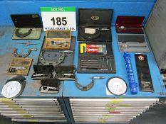 Nine Various Imperial Micrometers, Two Dial Indicator Vernier Calipers, Three Various Depth