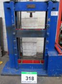 A 10-Ton Manual Hydraulic Mandrel Press, 570mm Throat with BLACKHAWK P76 Hydraulic Ram, Overall