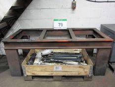 A 1790mm x 790mm Heavy Steel Open Frame Welding Bench
