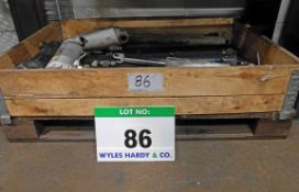 A Pallet Box containing Fourteen Various Used Forklift Clamp Hydraulic Cylinders