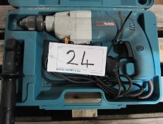 A MAKITA Model HP2033 240V 2-Speed Drill in Blow Moulded Case