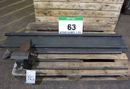 A Forge Steel 150mm Swivel Anvil Vice mounted on Pull-Out Rail System for Fitting to a Van.