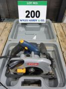 A RYOBI Model EWS-1366 190mm dia. 240V Circular Saw complete with Spare Blade in Blow Moulded Case