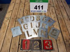A Set of Alpha Numeric Stencils