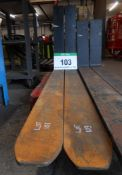 A Pair of CASCADE Class 4A Forks, Size 140mm x 50mm, Fork Length 1800mm (Unused)