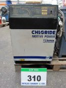 A CHLORIDE Model 21 Super Type 21S 24Volt, 30 Amps at 2 Volts per Cell, Single Phase Battery