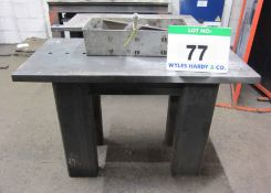 Two 1200mm x 600mm Heavy Duty Welding/Straightening Benches complete with Tie Bars, Clamps and