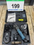 An ERBAUER Model R12W23 Lithium Ion 10.8V Cordless Multi-Cutter complete with Two Batteries, Charger