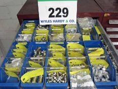 A Large Quantity of Hydraulic Fittings including BSP, Metric, SAE/BSP, SAE/JIB Adapators, Hose