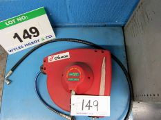 A DEMAC 15m Retractable Air Hose Reel with Swivel Bracket (Ex. Demo)
