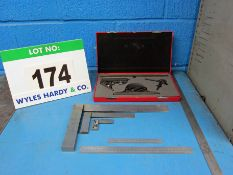 An Engineers Marking Out Set comprising STARRETT 12 Inch/300mm Combination Square Set (Cased), 310mm