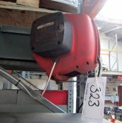 A DEMAC Retractable 240V Extension Lead Reel with Inspection Lamp and Swivel Bracket,