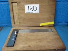 A MOORE AND WRIGHT 300mm Set Square in Case