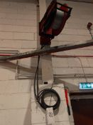 A Gas/Oxygen Wall mounted Hose Reel System complete with Bracket (Method Statement Required before