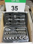An Expert Cased .5 Inch Drive Socket Set