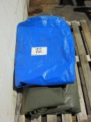 Two Tarpaulins, One Approx. 3000mm x 2300mm and One Approx. 8000mm x 5000mm