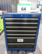 A DRAPER 680mm x 460mm x 860mm 7-Drawer Tool Chest, Lockable Keys present (Note: some damage to