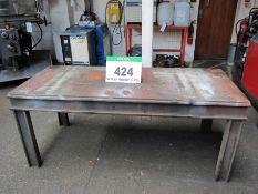 An 1800mm x 780nn x 740mm Heavy Steel Welded Bench