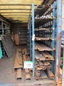 The Steel Stock Holding including Bar, Tube, Flat, Angle, Box Section, etc. (As Lotted includes