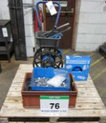 A Banding Trolley, Banding Tools and A Quantity of Banding with Clips and Corner Protectors